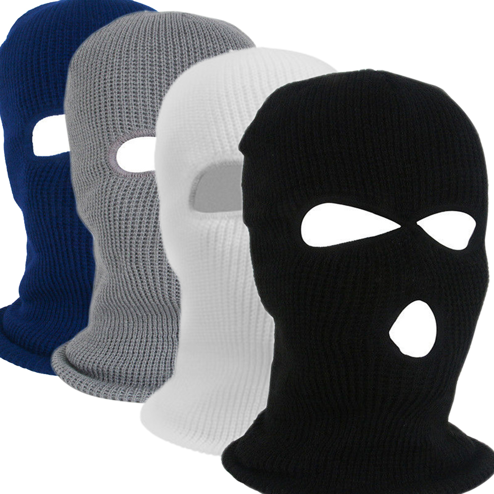 Balaclava Hood Knit Cap Tactical-Hat Motorcycle-Helmet Warm Army Winter Soft Full-Face