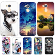 Silicone TPU Cover For Huawei Honor 6A Case 3D Pattern Cat Bag Cases Flower Pro