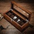Tang 5 слотов деревянные коробки для хранения часов чехол механические мужские часы чехол для хранения замок деревянный дисплей ювелирные из...