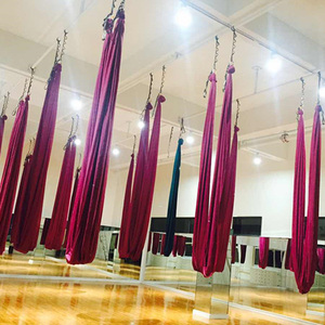 4*2.8M yoga hammock Solid color home exercise equipme anti gravity yoga swing aerial inversion Air yoga swing 23 Colors
