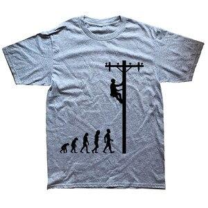 Image 2 - האבולוציה של הבלם מצחיק חשמלאי מתנת חולצה