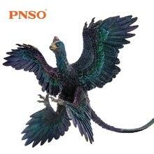 New Arrival PNSO dinozaury zabawki mikroraptor Model Dino klasyczne zabawki dla chłopców dzieci prezent