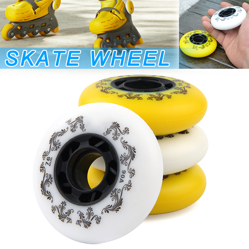 4 Pcs Inline Skates Wheels 90A Hardness Sliding Roller Durable Slide Skating FH99