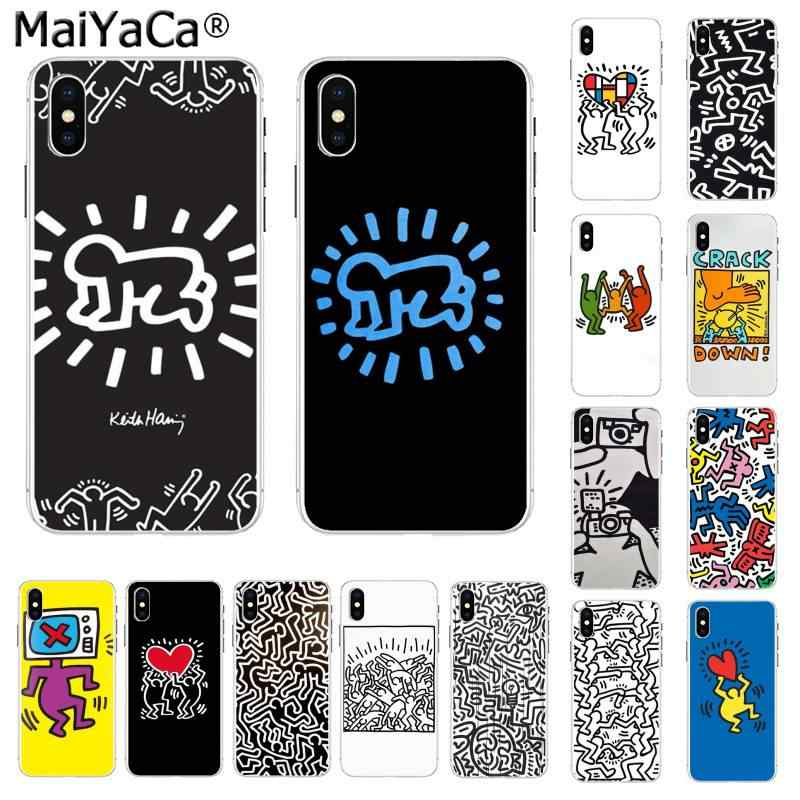 Maiyaca Keith Haring Art Coque Shell Telefoon Case Voor Iphone 11 Pro Xs Max 8 7 6 6S Plus X 5 5S Se Xr Cover