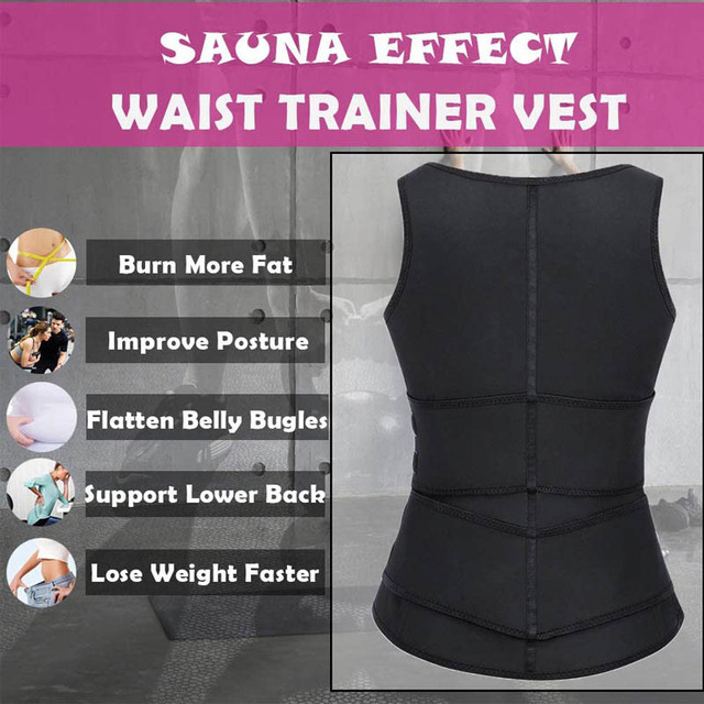 Neoprene Shaper Waist Trainer Double Waist Corset Sweat Slimming Belt for Women Weight Loss Compression Trimmer Workout Fitness 4