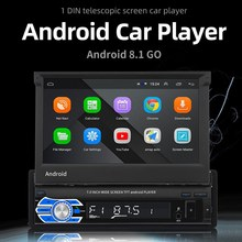 Universal 1din Android 8.1 Car Radio Stereo DVD Player Touch Screen Car Multimedia Player 7 Inch Autoradio GPS Navigation(China)