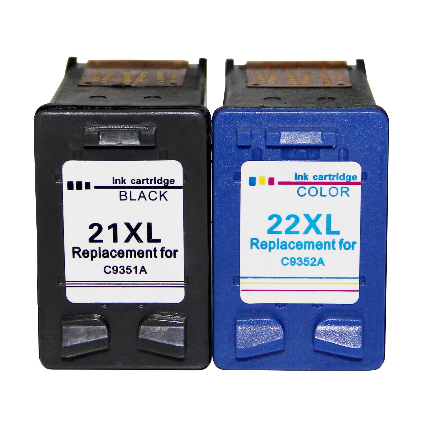 Remanufactured For HP 21 HP 22 XLCartuchos Ink For HP Deskjet F4180 F2280 F2180 F370, HP PSC 1410 Officejet 4315 4355