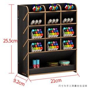 Image 3 - القلم الإبداعية لطيف التعلم مدون متعدد الوظائف صندوق تخزين سطح المكتب شخصية الحلي حامل قلم منظم