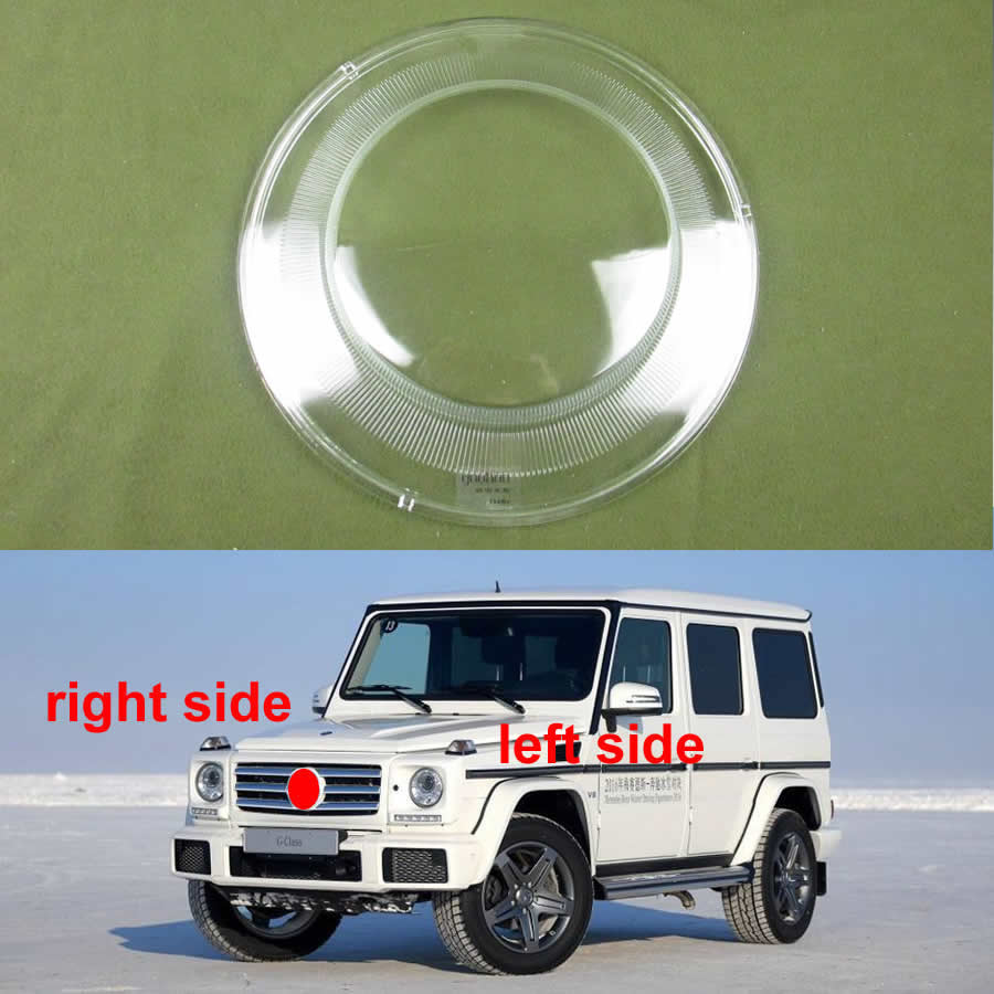 For Mercedes BENZ G-Class Big G 2007-2018 Headlights Cover Lens Lampshade Transparent Cover Lampshdade Lamp Shell Glass