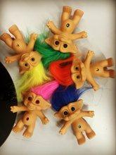 Nova chegada bonito kawaii troll boneca figura de brinquedo do bebê boneca crianças presente aniversário 9cm
