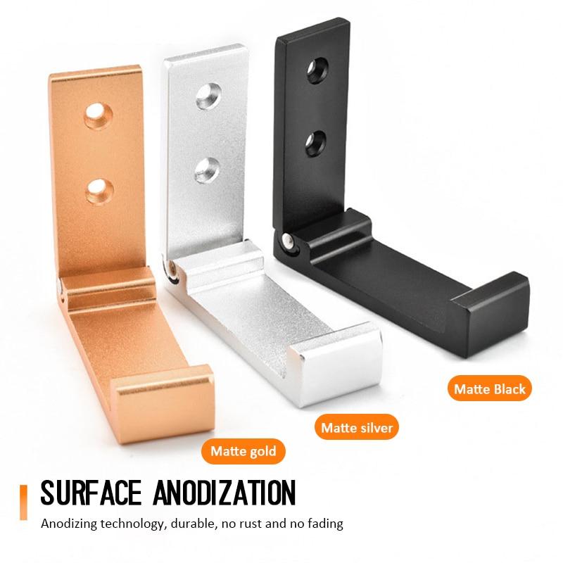 Soporte para auriculares de aleación de aluminio, gancho de montaje en pared, plegable, acabado adecuado para tiendas físicas y coleccionistas|Accesorios de auriculares| - AliExpress