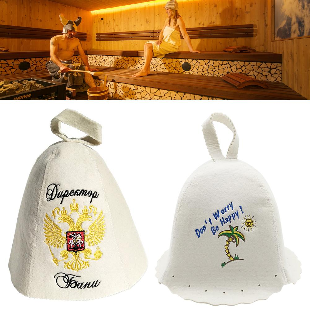 Wool Sauna Cap Anti Heat Felt Sauna Hat Sauna Anti-scald Shower Cap For Bath House Head Protection Russian Style Size 25*36cm