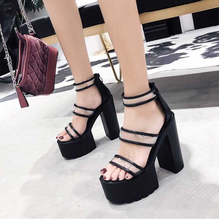 2020 Summer Roman Sandals High Heels Spring Shoes Espadrilles Platform Suit Female Beige Ladies Gladiator Sandals Women For(China)