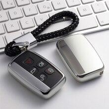 TPU anahtar durumda araba anahtarı kapakları için Land Rover Range Rover Evoque Freelander 2 Discovery 3 4 anahtar kovanı kılıf akıllı baskı