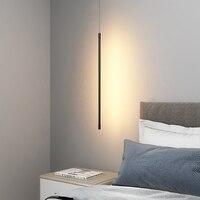 Moderne Kunst Zylindrische Linie LED Aluminium Anhänger Lichter Beleuchtung Nordic Wohnzimmer Schlafzimmer Nacht Indoor Decor Anhänger Lampen-in Pendelleuchten aus Licht & Beleuchtung bei