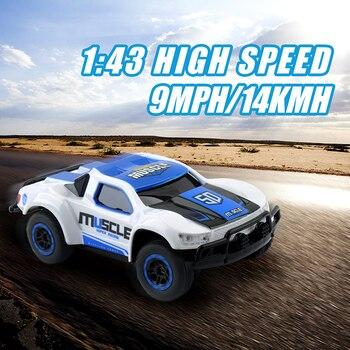 1/43 Mini voiture RC 25 KM/H haute vitesse voiture radiocommandée Machine RC camion 4CH voiture télécommande jouets pour enfants cadeaux de noël