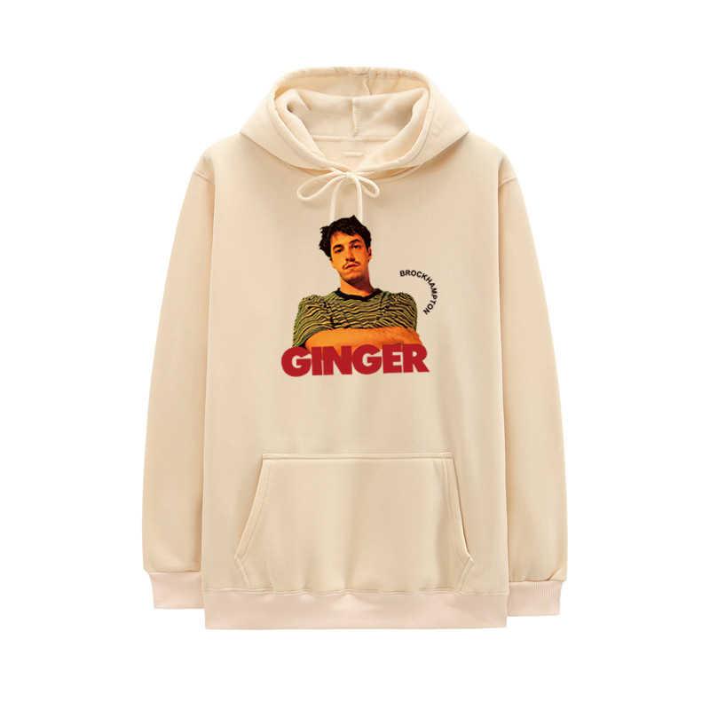 All-American Boyband Brockhampton 까마귀 남성 풀오버 힙합 캐주얼 생강 Streetwear 까마귀 하라주쿠 양털 후드 티셔츠