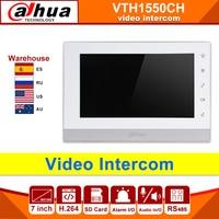 Original dahua video intercom ip Original VTH1550CH Indoor Monitor 7 inch 800*480 H.264 Resilution Touch Screen Color SD card