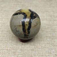 40-50 мм Природный септарий Камень Сфера образец минеральные шарики из камня