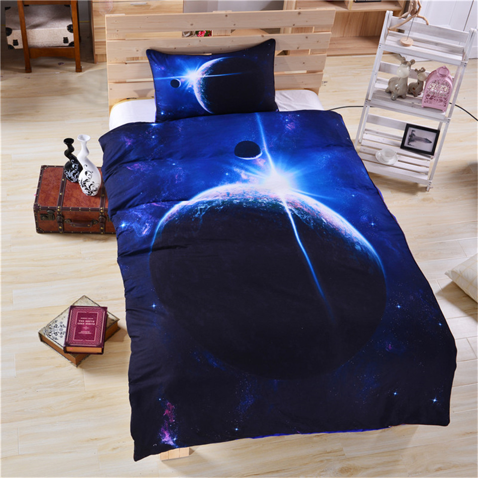 BEST.WENSDc13 Quality Super Soft Unicorn Bedding Cartoon Duvet Cover Set 3D Dinosaur World Bed Set 2/3pcs Twin Kids Bedding Set
