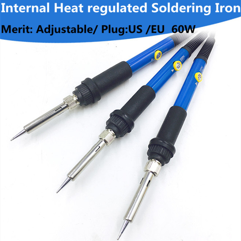 60W Electric Soldering Iron Temperature Adjustable 220V 110V Welding Solder Iron Rework Station Soldering Iron Accessories