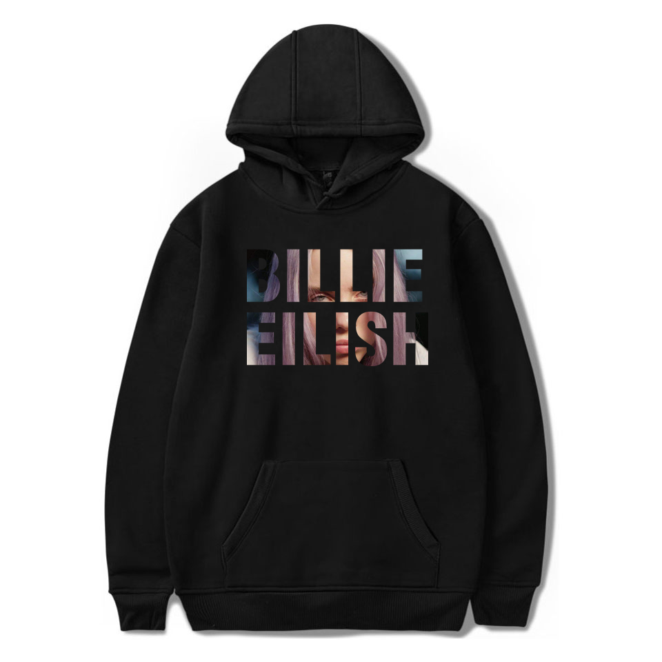 Streetwear Billie Eilish Hoodie Men/Women Black Hoodie Couple Billie Eilish Sweatshirt Simple Keep Warm Women/men Hoodie Clothes