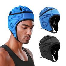 Helmet with Air-Vents for Rugby Hockey Black/blue Protective-Hat Safety Adults Unisex