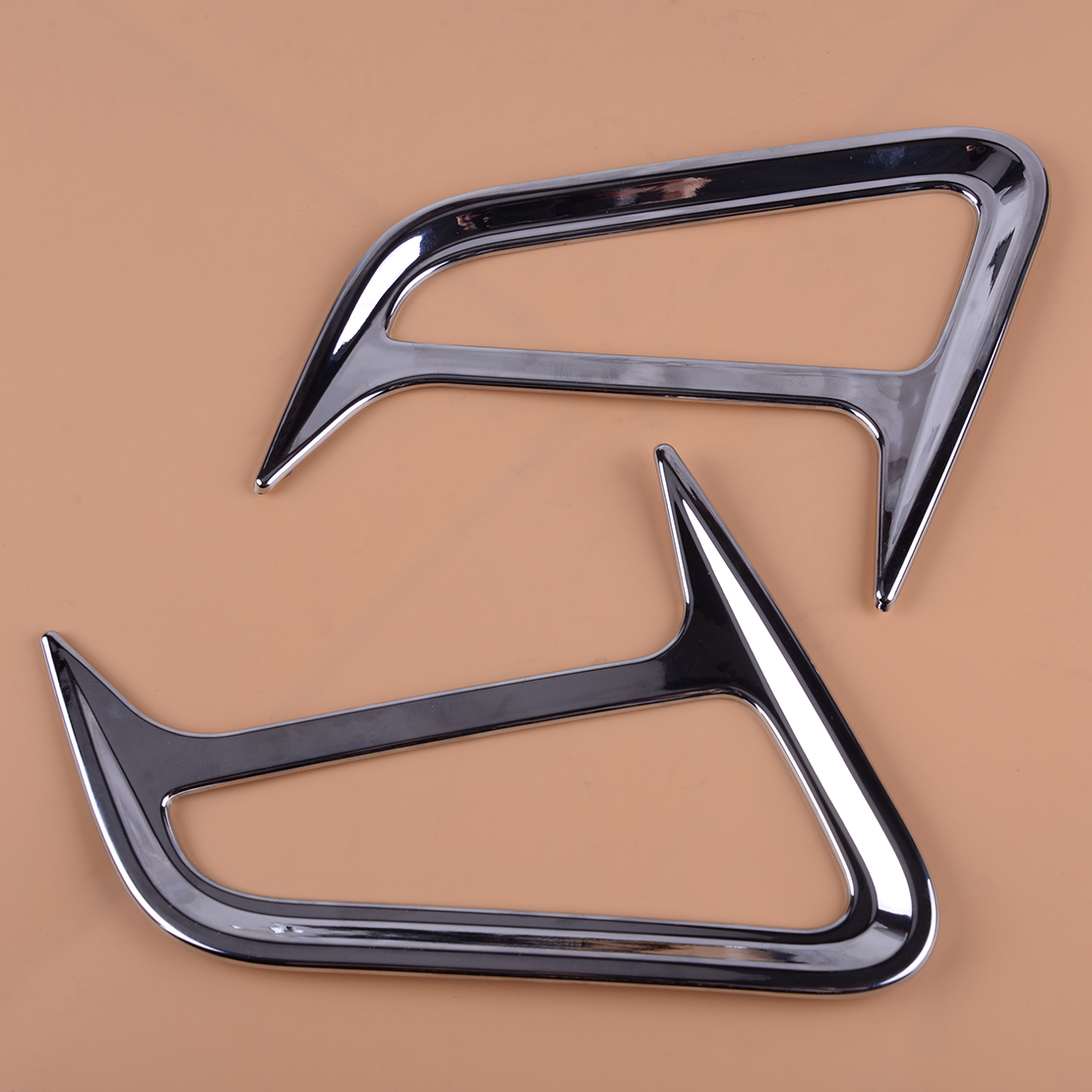 beler Chrome 2PCS Front Side Exterior Turn Signal Light Lamp Cover Trim Decoration Protector Fit for <font><b>Hyundai</b></font> Kona 2017 2018 <font><b>2019</b></font> image
