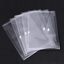مجلد مغلف بولي مع إغلاق أزرار خاطفة ، مغلفات بلاستيكية شفافة عالية الجودة ، 30 قطعة مشروع شفاف مقاوم للماء Env