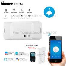 Горячая продажа SONOFF RF R3 WiFi переключатель, умные выключатели света с поддержкой приложения/433 RF/голосовое дистанционное управление Универсальный DIY модуль работать с Алиса