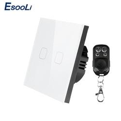 Выключатель сенсорный Esooli настенный, 2 клавиши, 1 канал, 170 ~ 240 В переменного тока