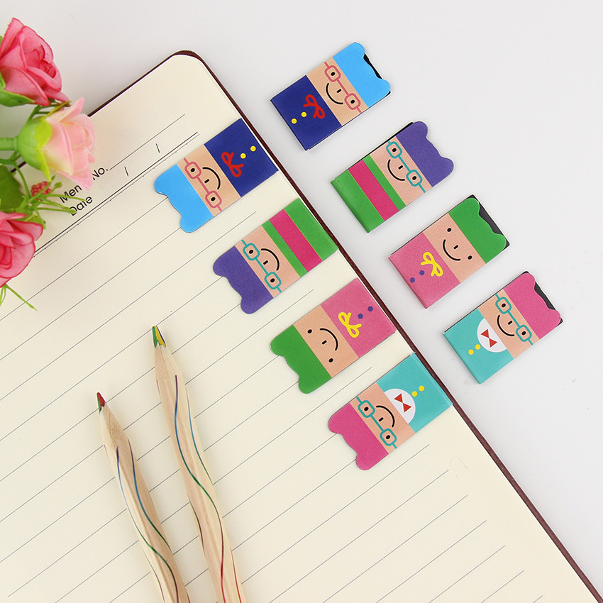 4 PCS/1SET Cartoon Kawaii Stationery Bronze Magnetic Bookmark Clips For Student Gift School Office Supplies Book Mark