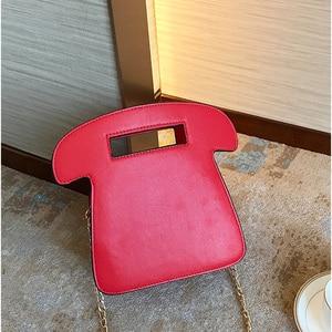 Image 3 - Brand Designer Cute Bag Mini Crossbody Bags Phone Chains Letter Funny Womens Pu Leather Telephone Shaped Fashion Messenger Bag