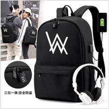 New Alan Walker DJ Faded School Bag noctilucous Luminous backpack student Notebo