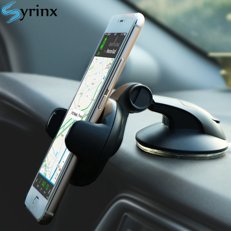 Car Phone Holder 2019 Mini For IPhone X XS 8 6 Plus Windshield Car Mount Phone Stand Suction Cup Holder Smartphpne Auto Support