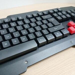 Image 4 - 2.4G kablosuz klavye fare seti bilgisayar masaüstü dizüstü rusça arapça tay İbranice İspanyolca fransızca İtalyanca kore alman klavye