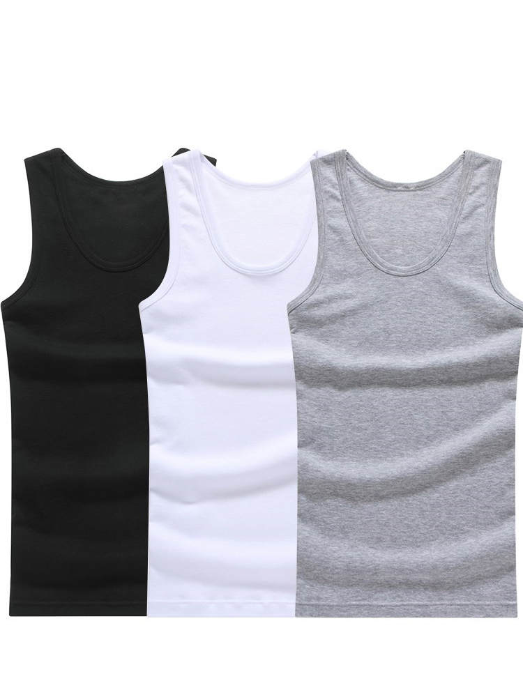Mens Sleeveless Tank-Top Undershirts Whorl-Tops Muscle-Vest Gymclothing Hot-Sale Cotton