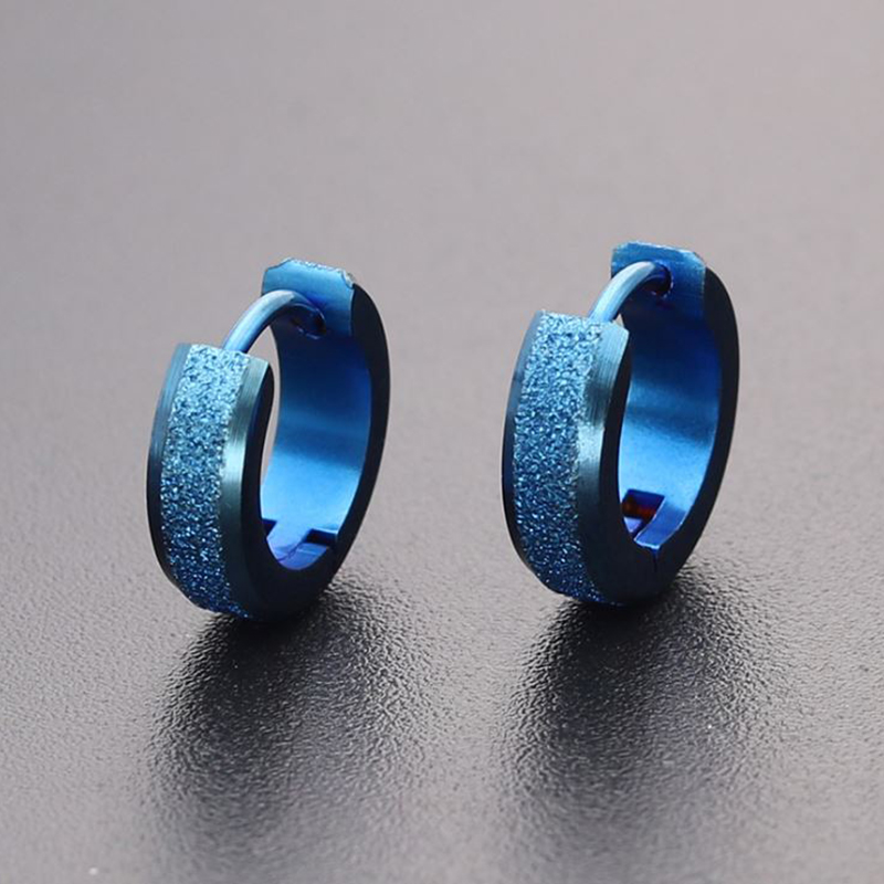 1 Pair Stainless Steel Simple Earrings For Women Men Round Circle Earrings Hoops Ear Bone Buckle Hoop