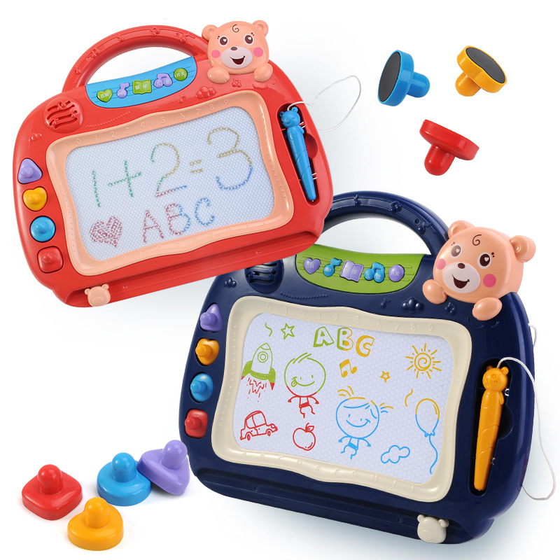 Children Drawing Board Magnetic Drawing Board Color Painted 1-3 Years Old Baby Doodle Board Small Blackboard Household