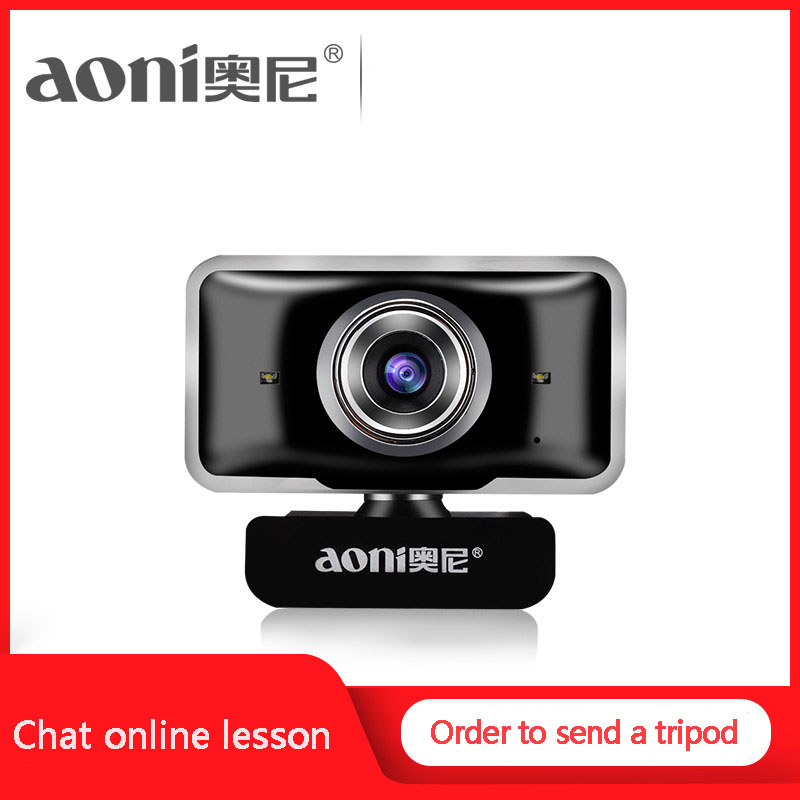 Aoni C11 HD camara de video Webcam 720P Built-in Micphone USB Mini Computer USB Camera for PC cam Computer Universal web camera 1