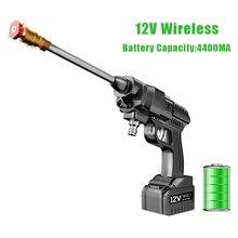 156W 12V Wireless Handheld High Pressure Car Washer Gun 4400MA  Battery Powered Pressure Washer Snow Foam Lance Car Acessories