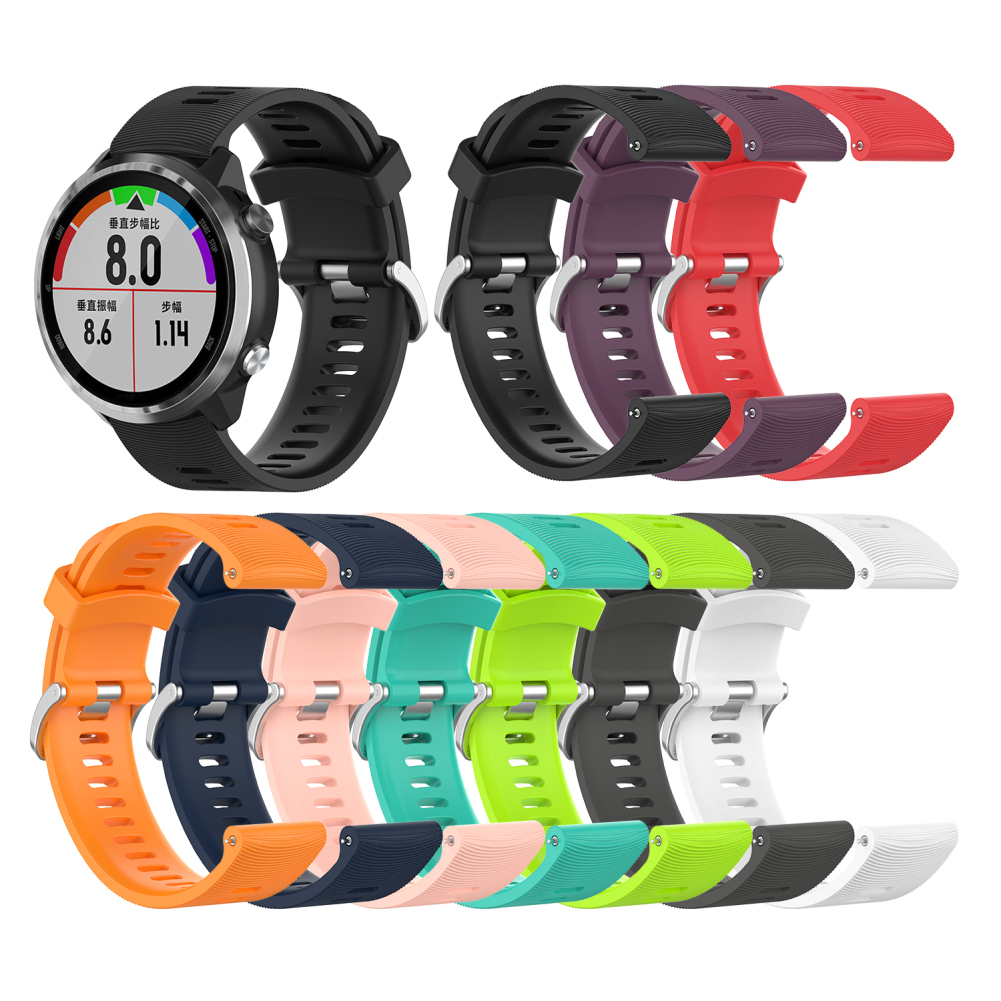 Rubber Silicon Sports <font><b>Band</b></font> for <font><b>Garmin</b></font> Forerunner645 <font><b>20mm</b></font> bracelet Soft Silicone Replacement Sport <font><b>Band</b></font> image