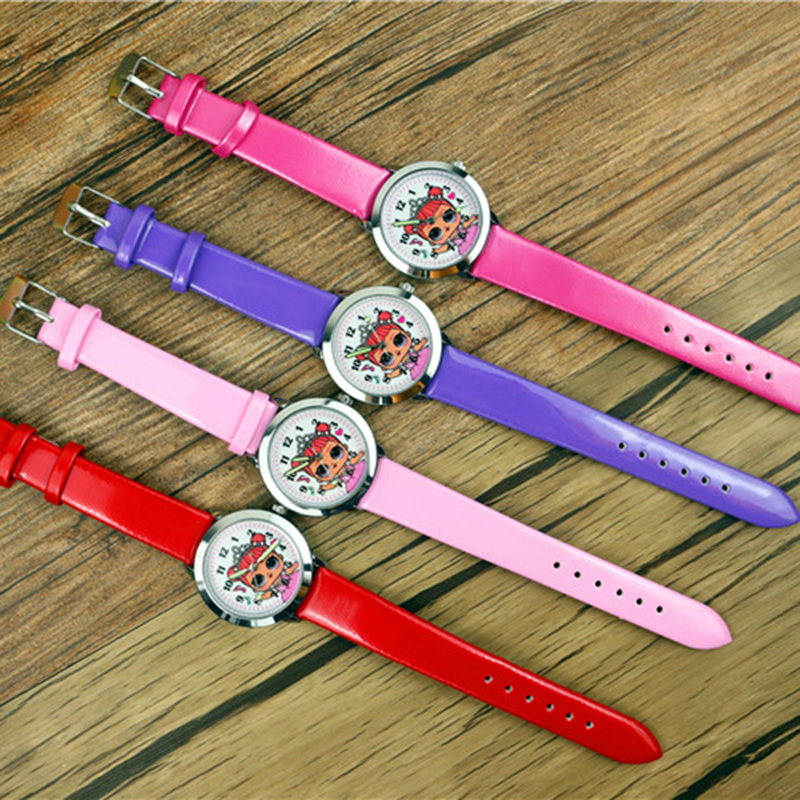 LOL Surprise Dolls Girls Dial Children Wrist Watches Kids Student Pretty Lass Style Quartz Leather Birthday Gift Lol Watch