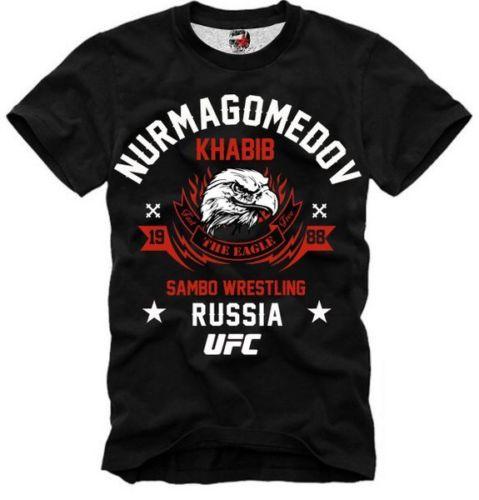 E1SYNDICATE T-Shirt KHABIB NURMAGOMEDOV THE EAGLE RUSSIA DTG3963
