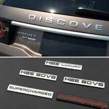 Para hse sd v8 autobiografia decalque de metal para land rover range rover defender descoberta evoque freelander 1 2 3 4 estilo do corpo carro