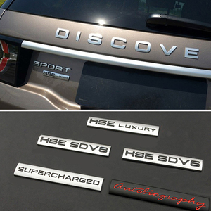 for HSE SD V8 Autobiography Metal Decal for Land Rover Range Rover Defender Discovery Evoque Freelander 1 2 3 4 Car Body Styling(China)
