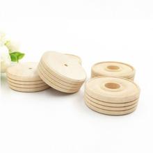 50 sztuk okrągłe drewniane małe koła akcesoria do zabawek DIY artykuły rzemieślnicze dla dzieci dzieci tanie tanio CN (pochodzenie) wood wheels toy accessories diy accessories toy wheels crafts supplies
