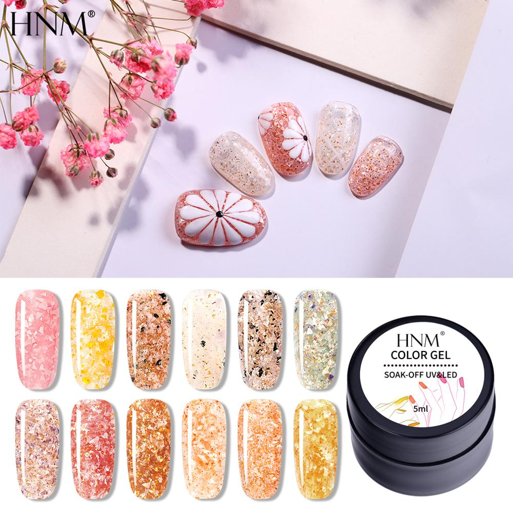 HNM 5ML Shimmer Fantasy UV Gel Nail Polish Semi Permanent Soak Off  LED Painting Gel Lacquer Primer Varnish