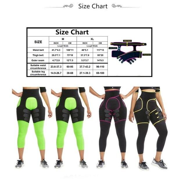 Lady Shaper High Waist Trainer Belt Weight Loss Fat Belt Thigh Trimmer Body Shaper Neoprene Slimming Belt Sweat Body Leg 5