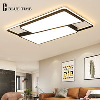 Modern Surface Mount Ceiling Lights For Bedroom Living Room Dining Room Black Finished Acrylic LED Ceiling Lamps Fixtures